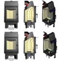 Wkład kominkowy BLANKA 670/570 12 kW BS prawa