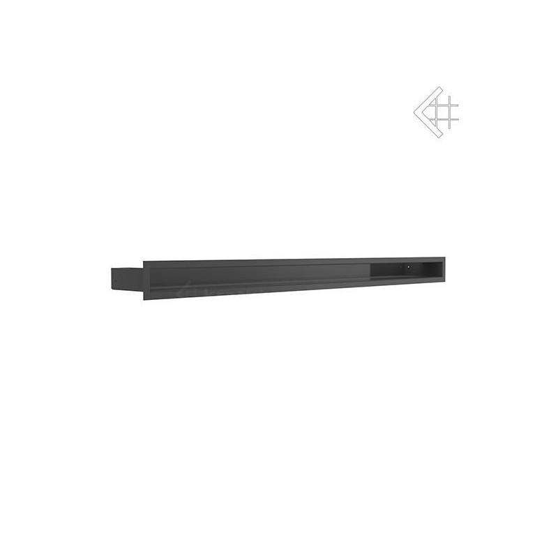Kratka wentylacyjna LUFT SF 60x1000 mm - kolor czarny