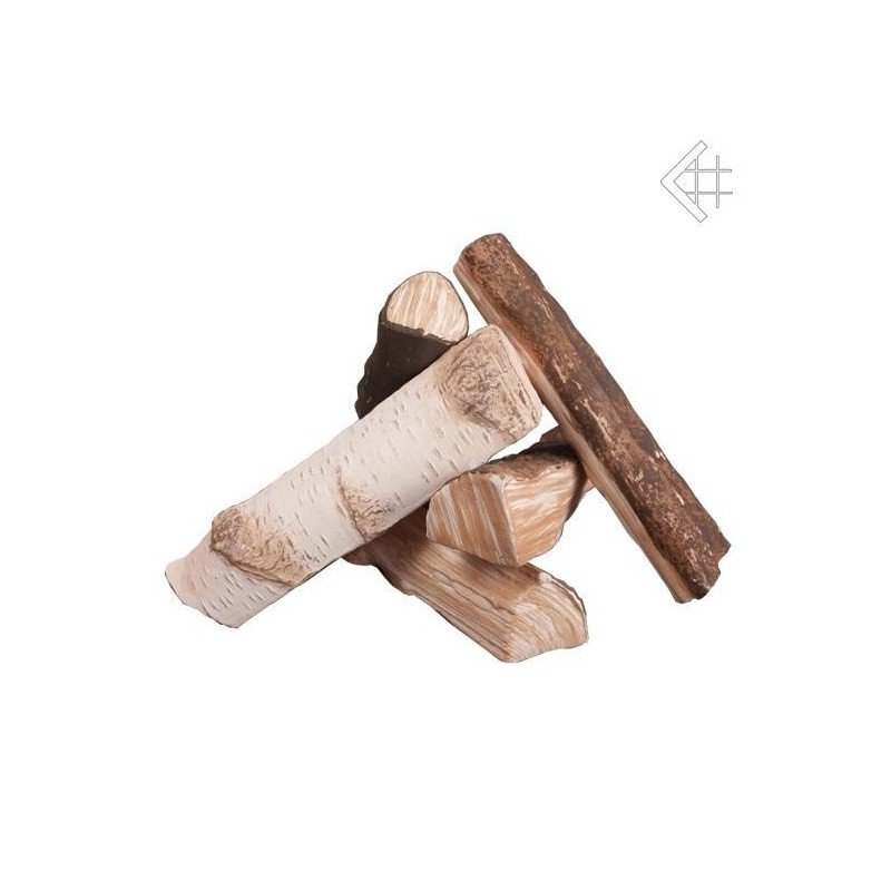 Elementy ozdobne drewienka ceramiczne MIX