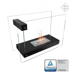 Biokominek Linate czarny z certyfikatem TÜV