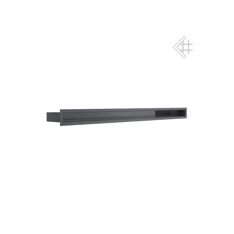 Kratka wentylacyjna LUFT SF 60x1000 mm - kolor grafitowy