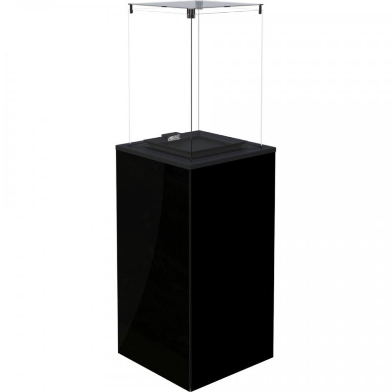 PATIO MINI szkło/czarny - sterowanie manualne, panel czarny