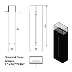 Biokominek stojący ROMEO czarny certyfikat TÜV #4